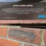 Rusty Steel Lintel Causes Brickwork to Move